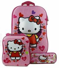 3D Hello Kitty 3pc. Pink Trolley PVC Suitcase Luggage Travel Sets- 4 Designs