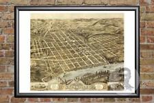 Vintage Knoxville, TN Map 1871 - Historic Tennessee Art Old Victorian Industrial