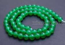 """SALE High quality Round small green 6mm jade gemstone beads strands 15"""" -los651"""
