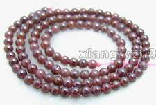 """SALE Small 4 to 5mm Round high quality Natural Brown garnet Beads strand 15""""-202"""