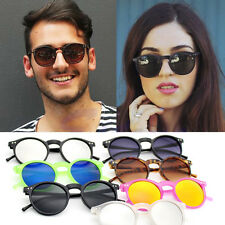 Retro Fashion Vintage Mens Womens Round Shape Glasses Sunglasses Eyewear Shades