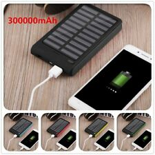 300000mAh Universal Solar Charger Dual USB External Charger Battery Power Bank H