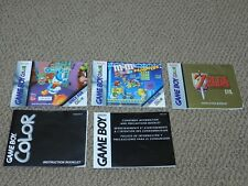 NICE SELECTION Game Boy Color GBC Game Manual Booklet Instructions