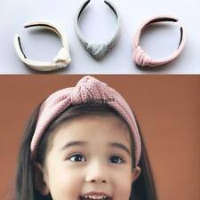 Fashion Bowknot Solid Width Hair Hoop Hair Accessories For Baby Girls OO55