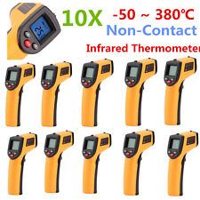 10PCS Non-Contact LCD IR Laser Infrared Digital Temperature Meter Thermometer SM