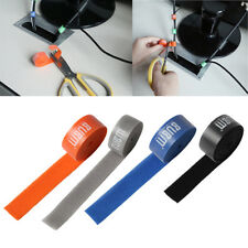 6Roll Reusable Nylon Strap Hook and Loop Cable Cord Ties Tidy Organizer