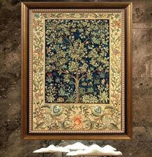 Printed 9-11CT Cross Stitch Kit William Morris Wall Paper Tree of Life Cotton