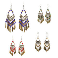 Wedding Jewelry Beads Dangle Tassel Earrings Behomia Ethnic for Women Bride