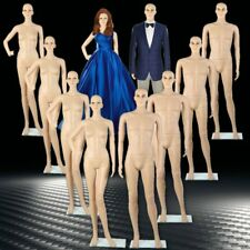 4X Male Female Full Body Realistic Mannequin Display Head Turns Dress Form Base