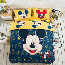 Blue Mickey Mouse Bedding Set Coverlets Bedspreads for Kids Twin Full Queen King