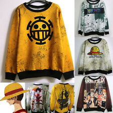 ONE PIECE Luffy Unisex Anime Trafalgar Law Sweater Cosplay Outfit Tops Coat