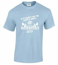 MANCHESTER CITY FANS THEMED BOOZE AND BIRDS T-SHIRT