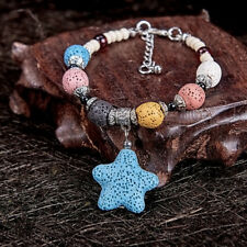 Fashion Natural Colourful Starfish Lava Rock Beads Stone Women Bracelet for Gift