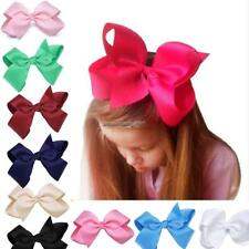 New Alligator Clips Girls Large Bow Ribbon Kids Accessories Hair Clip NC89