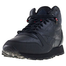 Reebok Classic Leather Mid Twd Mens Trainers Black Red New Shoes