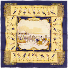 Authentic Hermes Silk Scarf PLAISIRS DU FROID Hugo Grygkar