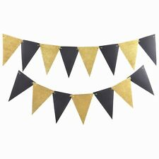 Party Basics Decor Black Gold Glam Bunting decoration wedding birthday adult