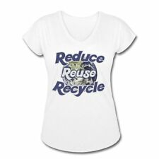 Earth Day Reduce Reuse Recycle Women's Tri-Blend V-Neck T-shirt by Spreadshirt™