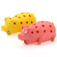 WONPET Grunting Squeaky Latex Dog Toy Polka Dot Goblet Pig Puppy Interactive Toy