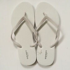 Old Navy Girl Flip Flop Thong Sandals Flat White Black Size 3, 4, 5, 7