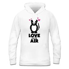 Love Is In The Air Skunk With Hearts Women's Hoodie