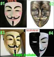 resin V for Vendetta Mask Anonymous Guy Fawkes cosplay Halloween masquerade prop