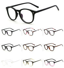 Unisex Retro Fashion Vintage Glasses Round Clear Lens Eyewear Womens Mens oval