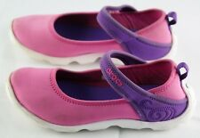 Crocs Duet Busy Day Mary Jane 15352 girls sz 1 pink purple & white shoes