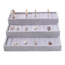 Velvet Jewelry Display Stand Tray For Rings Cufflinks Earrings Necklace
