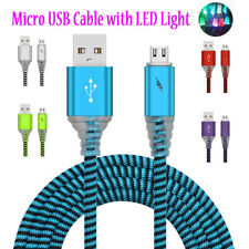 Fast Charging With LED Light Micro USB Data Sync Cable For Samsung Galaxy S6 S7