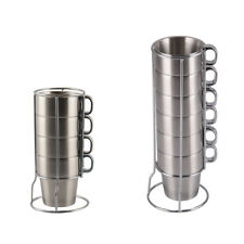Heat-Insulation Stainless Steel Mug Beer Coffee Drinking Cup for Adult Child