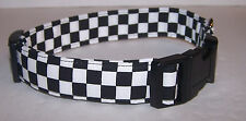 Wet Nose Designs Start Your Engines Racing Checkered Flag Dog Collar Nascar Race
