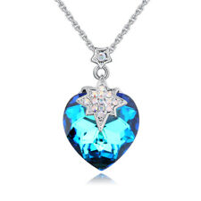 Romantic Austrian made with Swarovski Crystal Heart Love Pendant Necklace Chok C