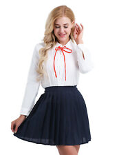 Fashion Student Girl School Dress Uniform Costume Sexy Pleated Skirt For Cosplay