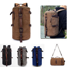 Canvas Hiking Camping Bag Military Tactical Rucksack Trekking Backpack Shoulder