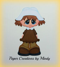 CRAFTECAFE MINDY THANKSGIVING PILGRIM GIRL premade paper piecing for scrapbook