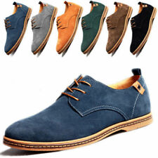 Fashion Mens Lace Up Casual Formal Oxfords Flats Shoes Suede Leather Hot 2018