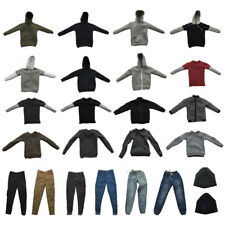 1/6 12'' Action Figure Clothing Jacket Hoodie T-shirt Shirt Pants for Hot Toys