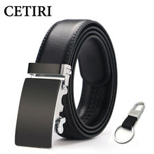 CETIRI Top Man Belts Luxury High Quality Cow Genuine Leather Ratchet Belts For