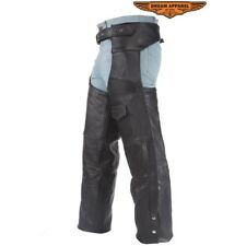 Mens Leather Motorcycle Chaps With Liner