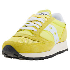 Saucony Jazz Original Vintage Womens Trainers Yellow White New Shoes