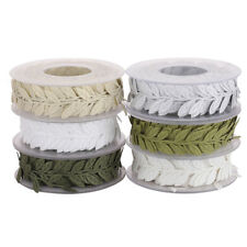 15 M Artificial Leaf Ribbon for DIY Craft Wreath Making Gift Wraping Decor