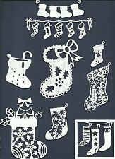 LOTS 6 - 14 PCS. SUB-SETS CHRISTMAS STOCKINGS DIE CUTS* GARLAND SNOWMAN TOY READ