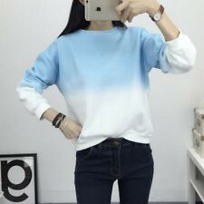 Long Sleeves Sweatshirts For Womens Slim Round Neck Warm Loose Pullover Tops