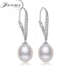 Real Freshwater Pearl Earring Sterling Silver 925 Jewelry,Drop Natural Pearl