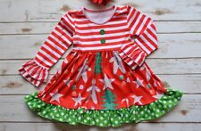 NEW Christmas Remake Gingerbread Boutique Custom Dress 3T 4T 5/6 6/7 8/10 Red