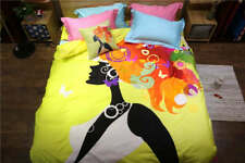 Beauty Lady Printed Bedding Full Queen Duvet Cover Comforter 4/5 Pieces Bed Set