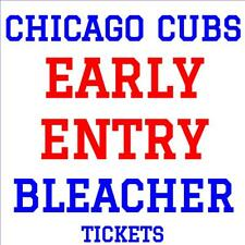 CHICAGO CUBS · EARLY ENTRY BLEACHER TICKETS · APRIL 30 vs COLORADO ROCKIES