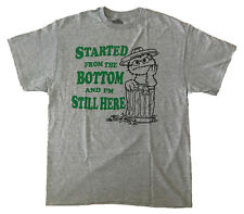 Sesame Street Men's Oscar The Grouch Started From The Bottom Licensed T-Shirt