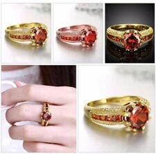 Women Ladies Copper Zircon Ring Engagement Wedding Party Finger Rings Jewelry